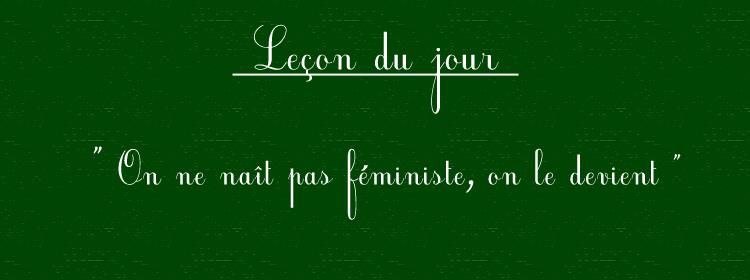 Fragil â â On Ne Naãt Pas Fãministe On Le Devientâ â